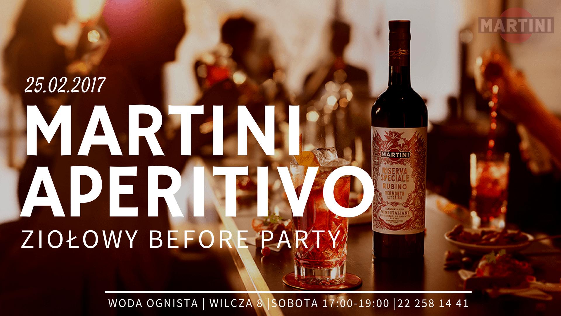 ZAPROSZENIE Martini Aperitivo