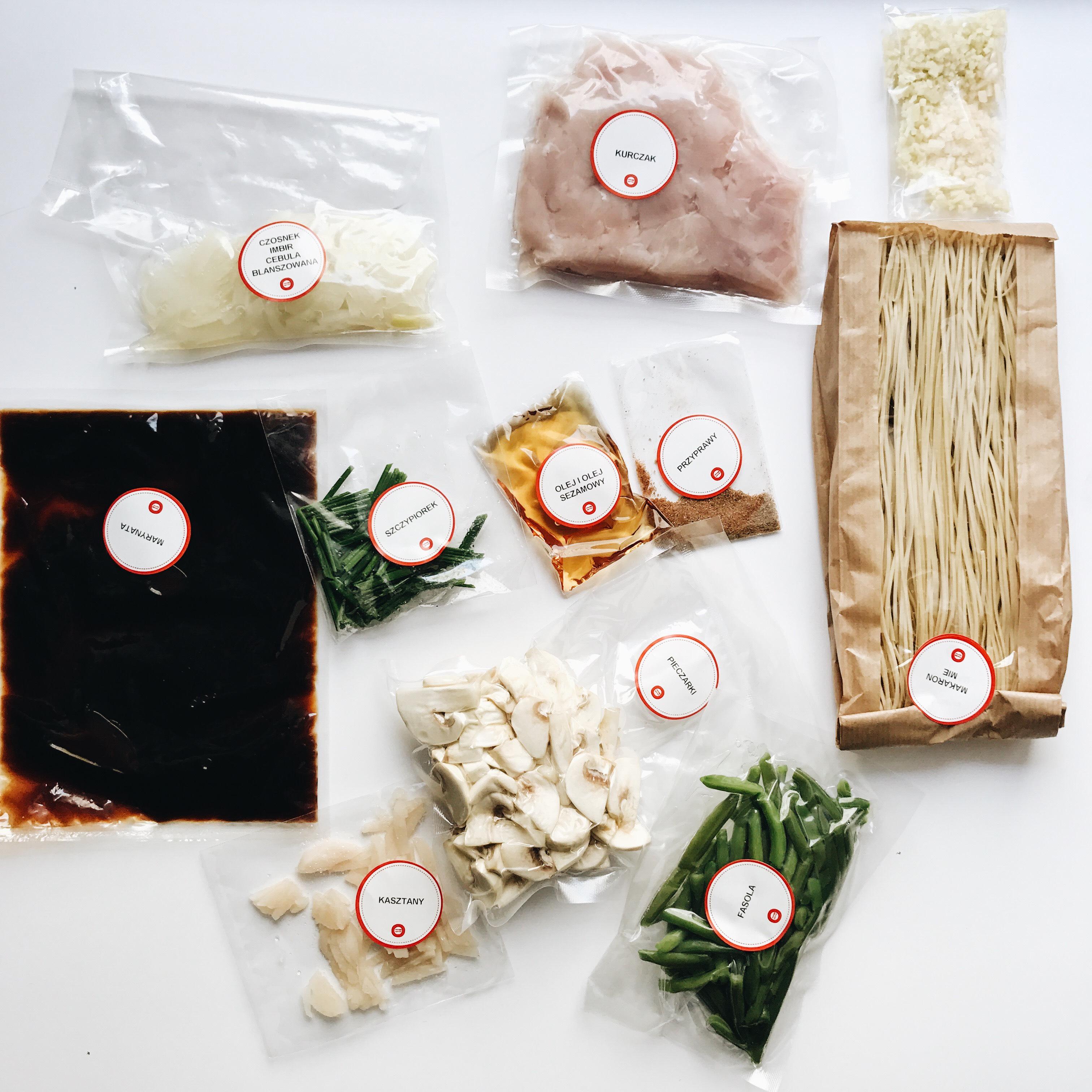Bakmie Ayam - składniki