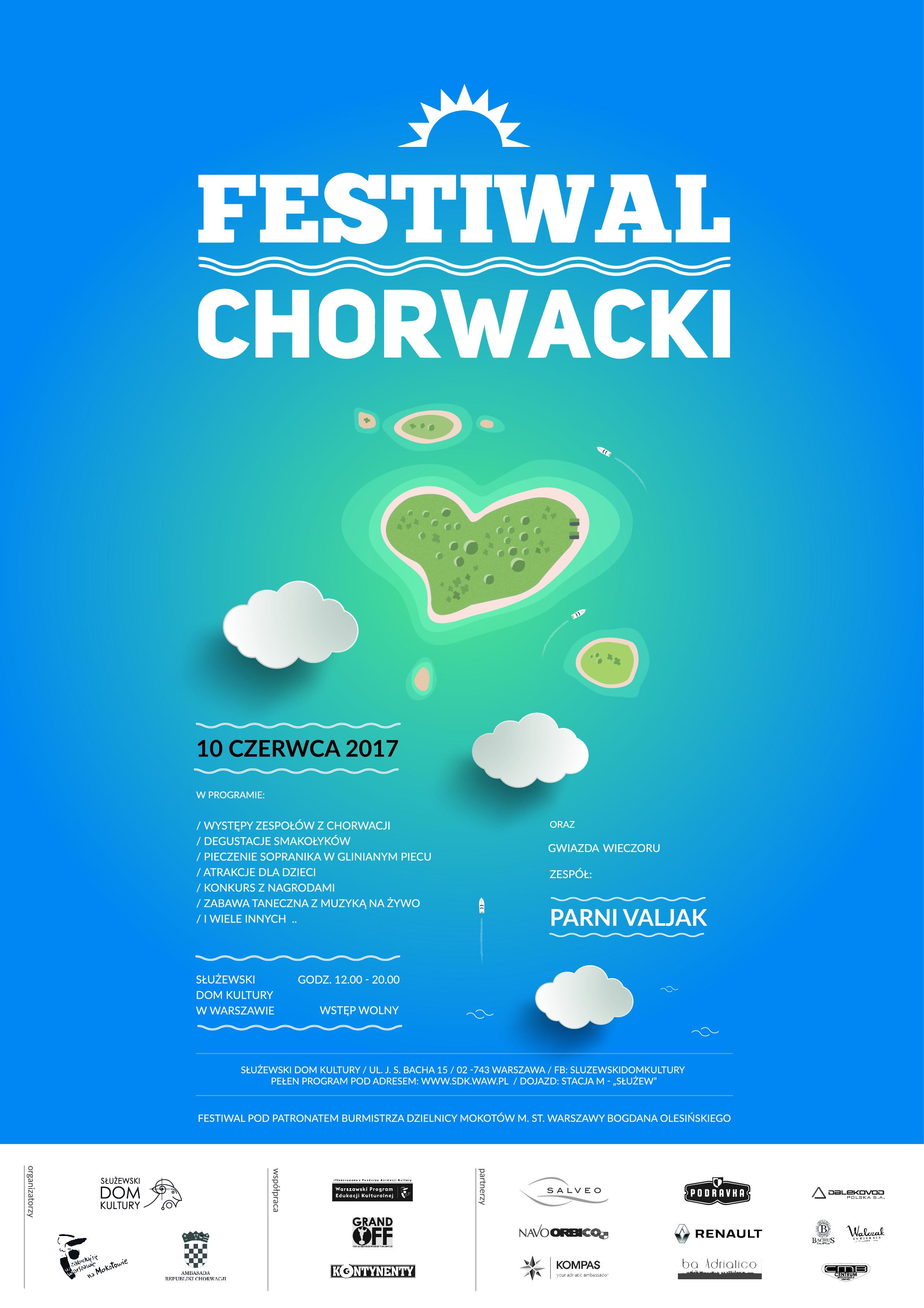 festiwal chorwacki - plakat